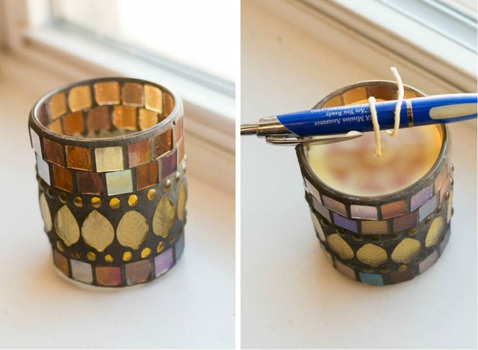 how to make candle sicks stand up