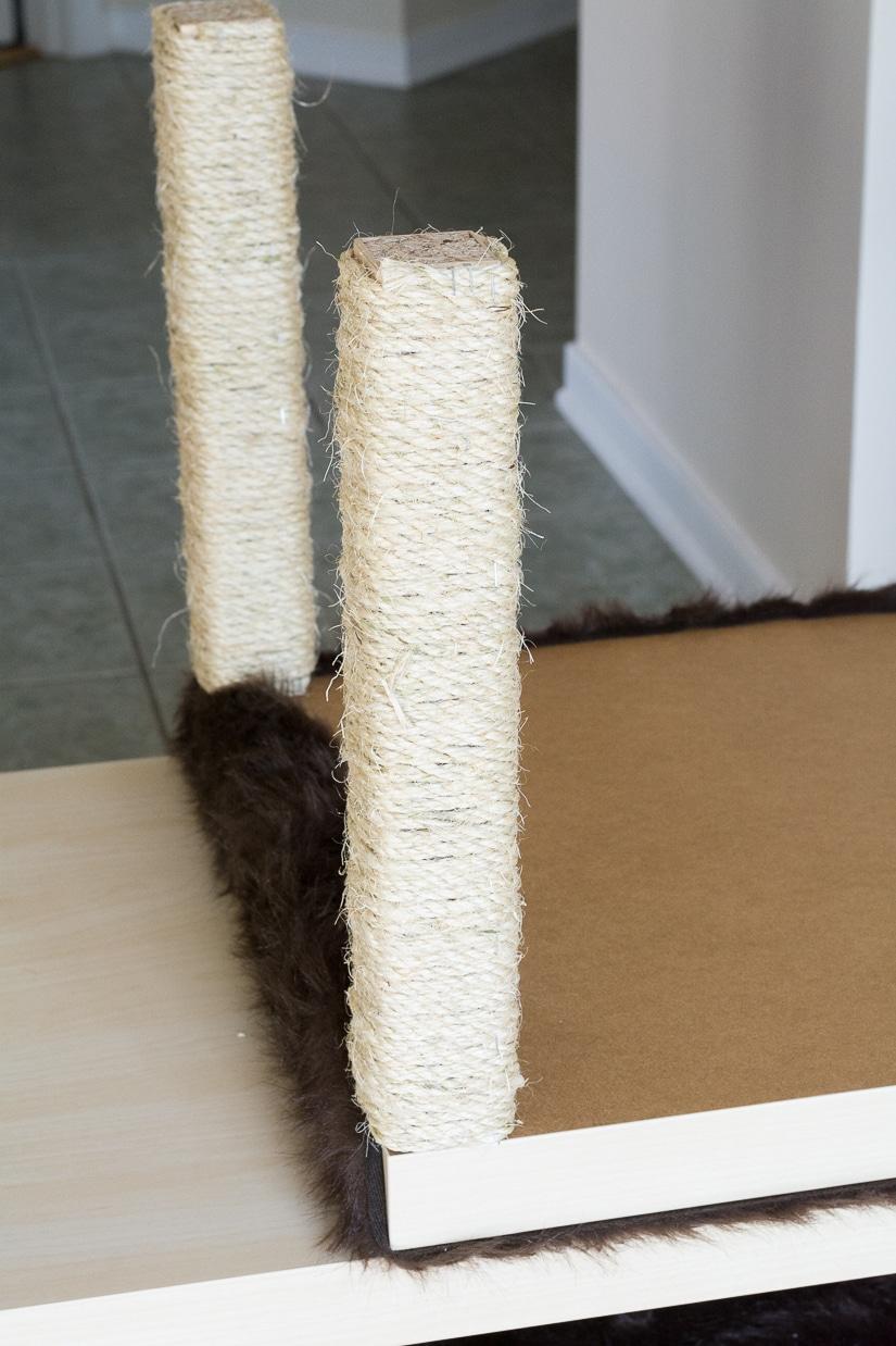 DIY Cat Tree Using Ikea Tables