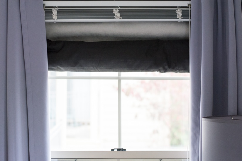 No-Hole Hanging for Shades and Curtains