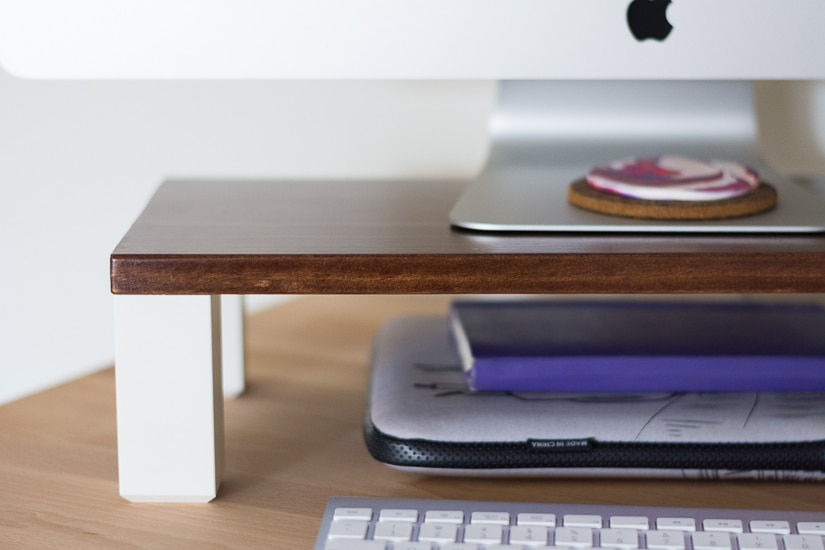 Make An Easy Diy Monitor Stand By Brittany Goldwyn