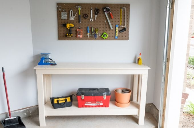 New Garage, New Workbench: Simple Two-Level Workbench