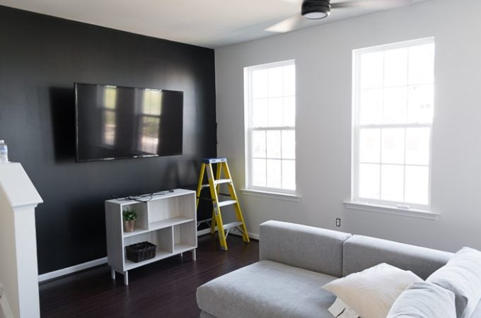 Tricorn Black living room