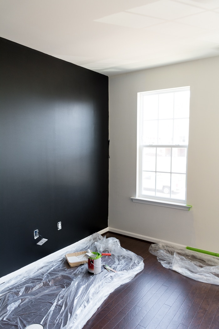 New House Progress My Tricorn Black Living Room