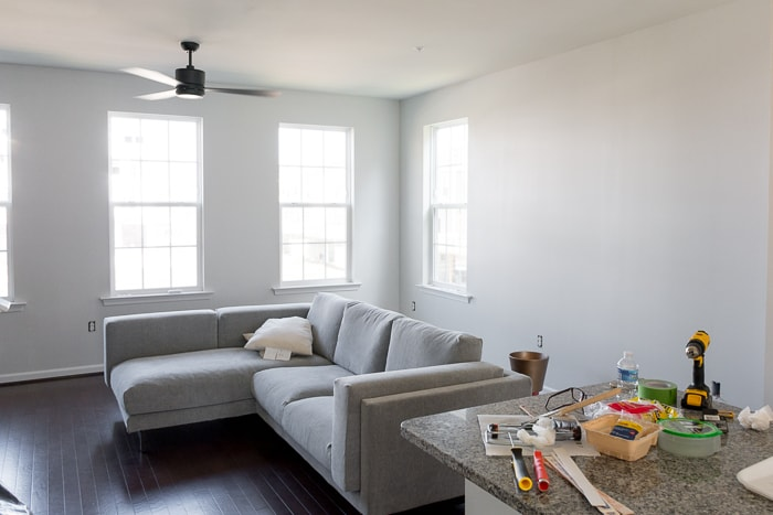 Blue and gray living room pictures