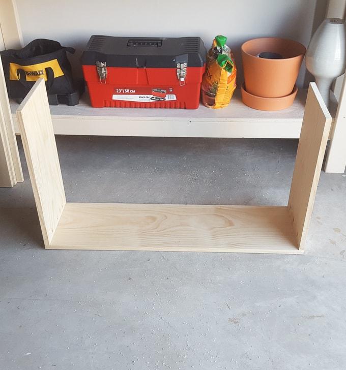building a DIY shoe cubby
