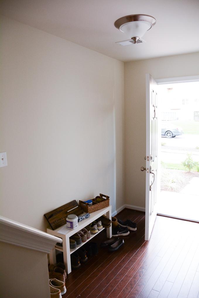boring beige entryway