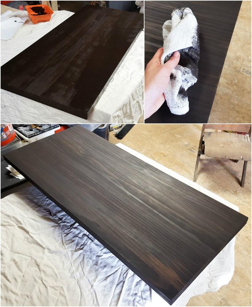 make a butcher block coffee table by brittany goldwyn