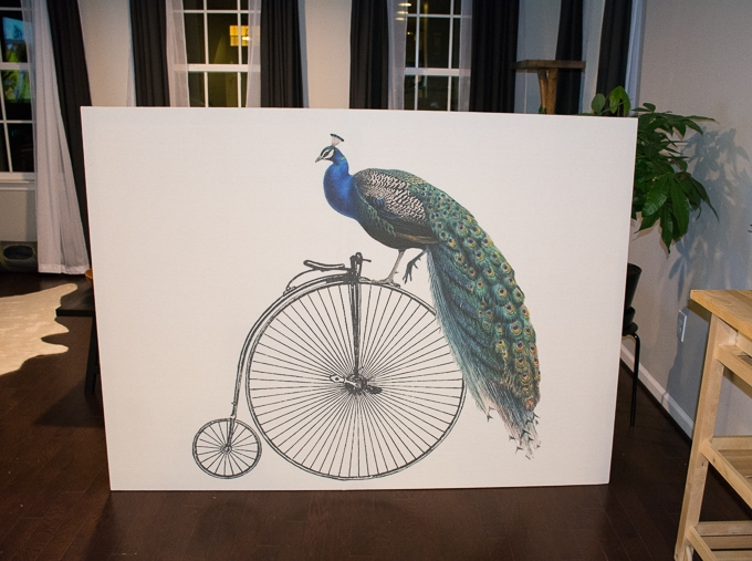 DIY Oversized Wall Art: Peacock on a Bike