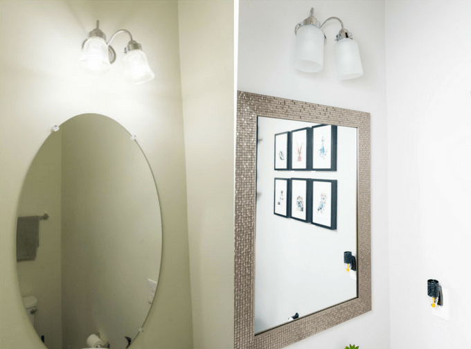 Modern powder room makeover on a budget