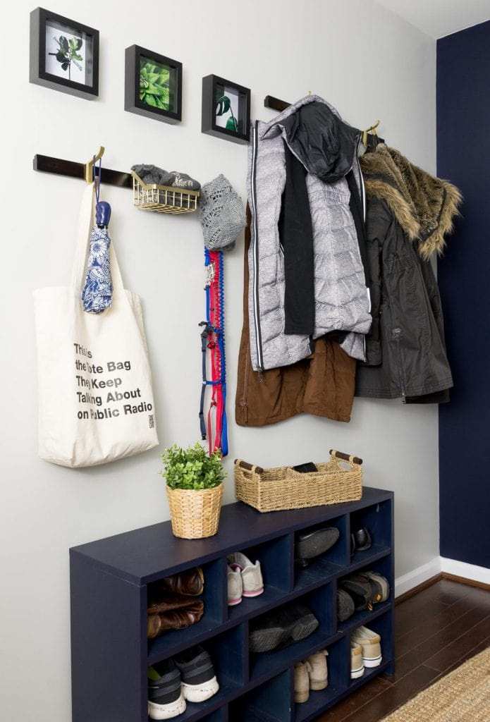 small navy entryway