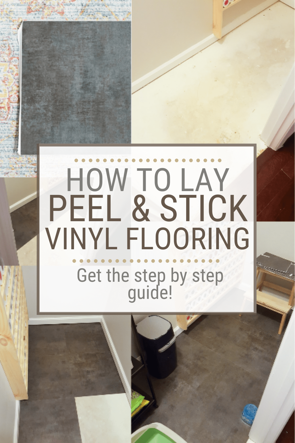 how to lay vinyl peel and stick