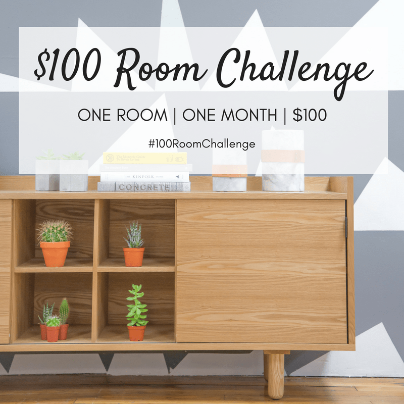 100 makeover challenge // tiny laundry nook update
