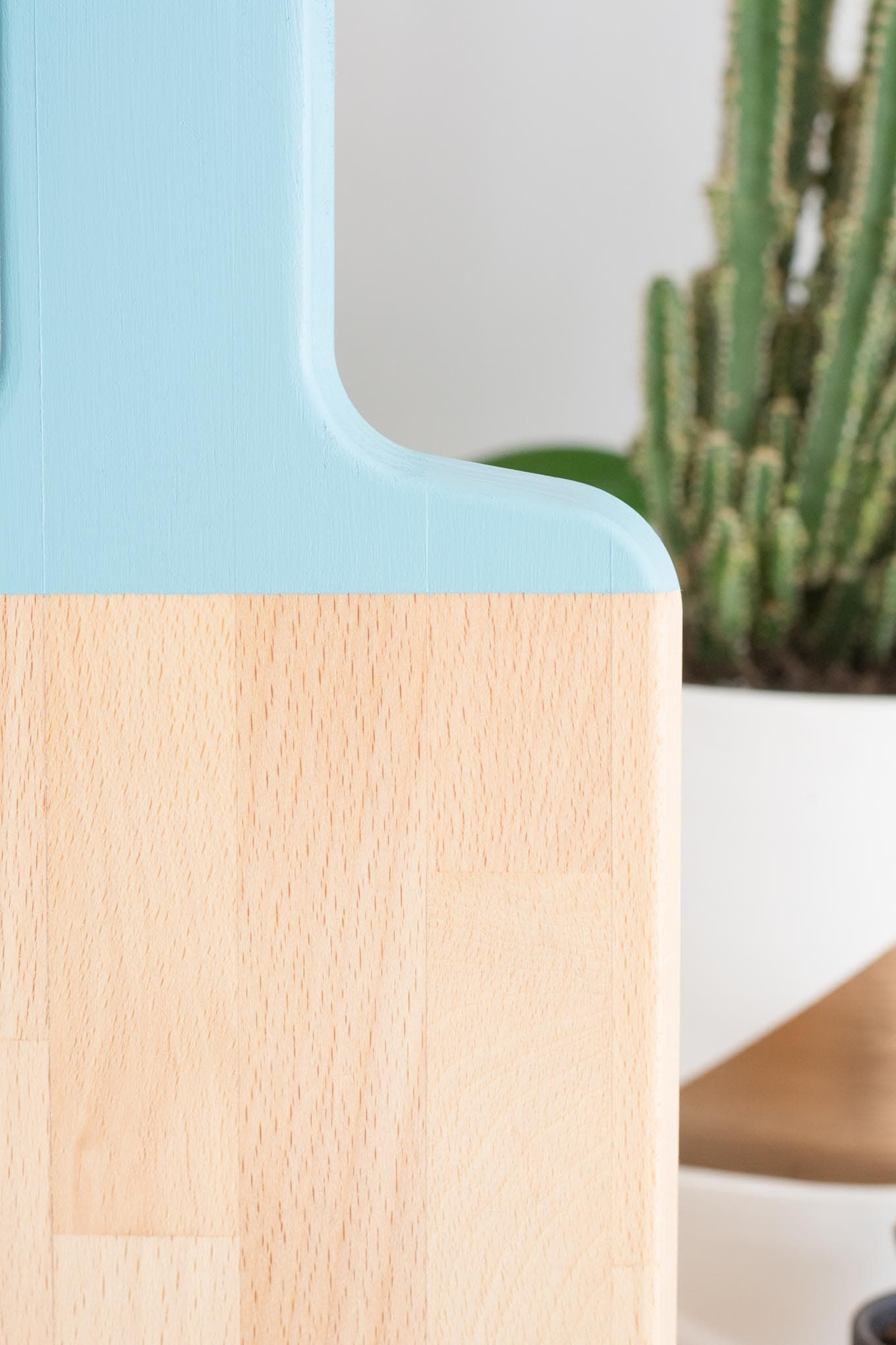 Quick & Easy Color-Blocked Painted Cutting Board