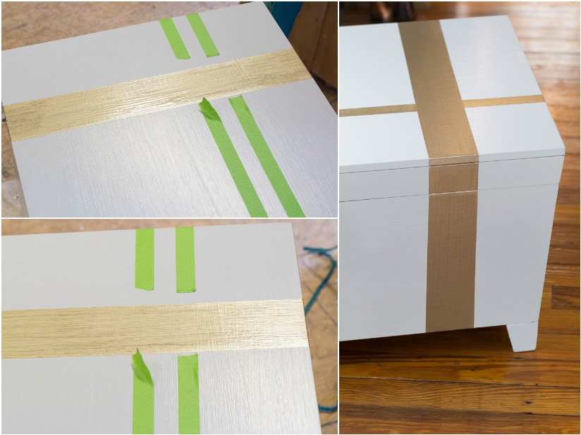 Trunk makeover with Americana Decor Satin Enamels -- You won't believe how awesome this paint made this trunk look!