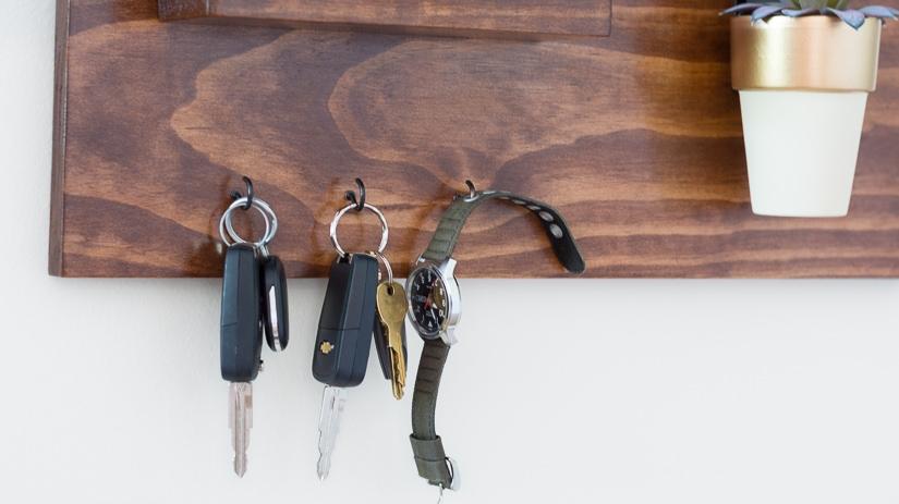 diy wood key holder
