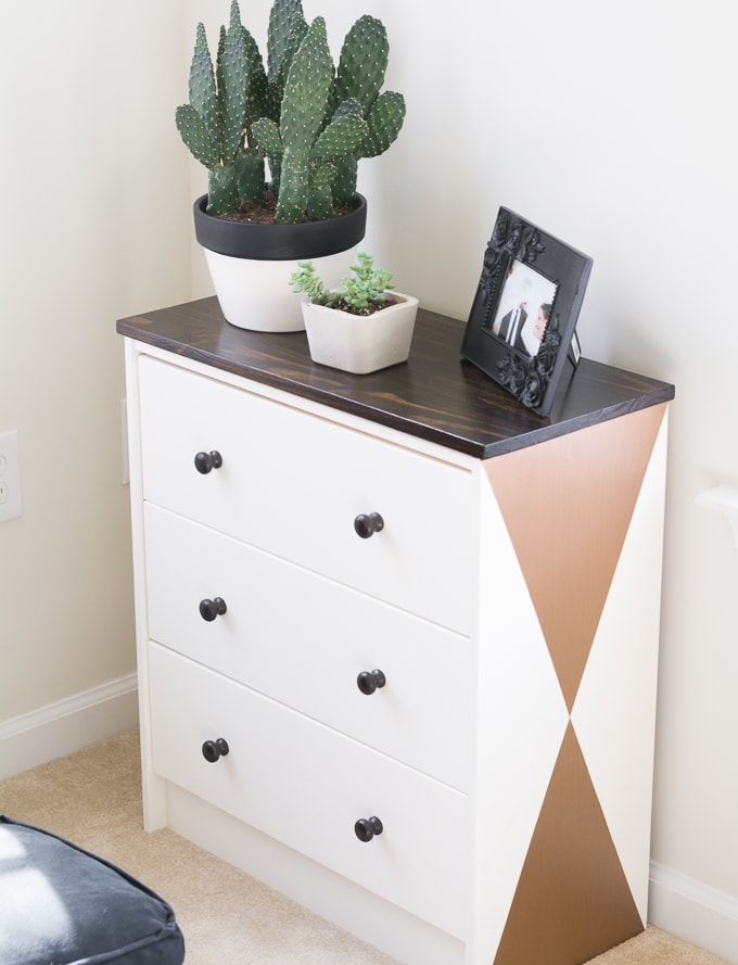 Add a Stained Wood Top to an Ikea Rast