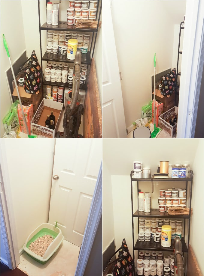 Under-the-stairs shelving build plans
