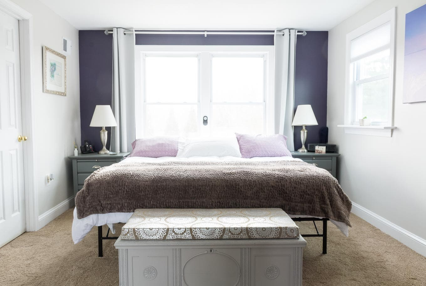 Fresh and easy updates to a dated master bedroom