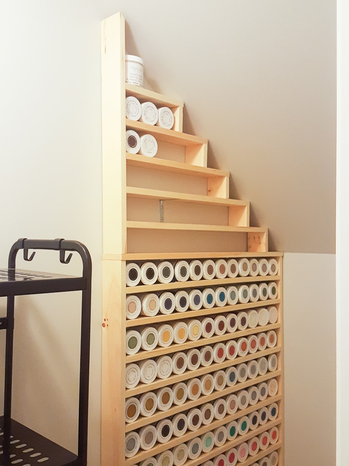 How to Build Shelves Under a Staircase