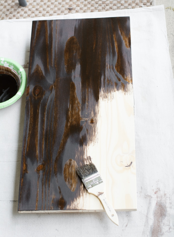 How to stain and finish wood