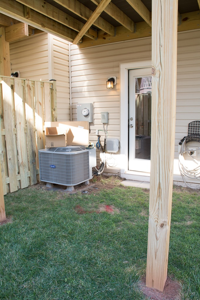 tiny backyard ideas to hide an AC unit