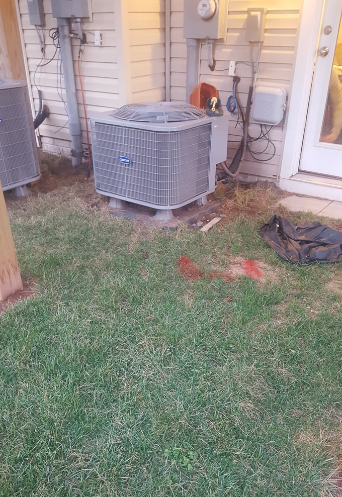 ugly hvac unit outside