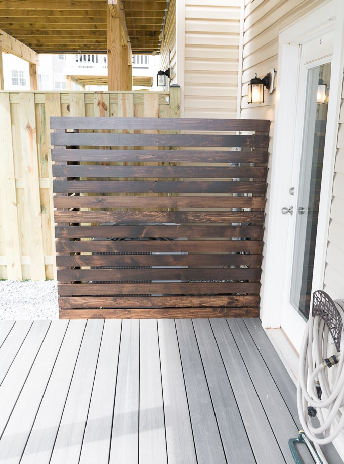 DIY HVAC Unit Screen // Wood AC Unit Fence // DIY utilities screen // AC Unit privacy screen