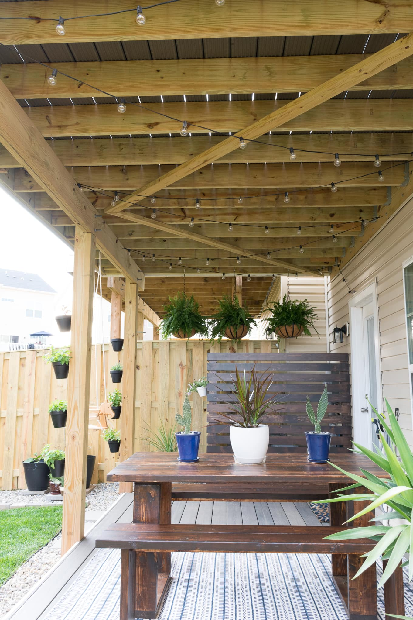 Modern design ideas for a small backyard // My Tiny Backyard // by Brittany Goldwyn