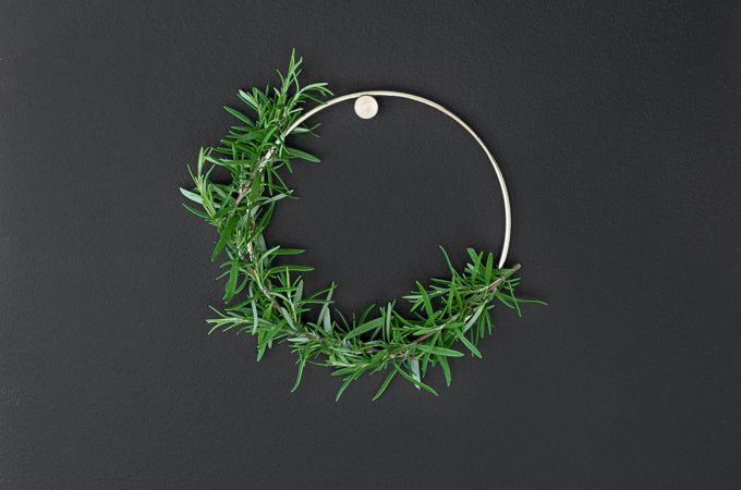 DIY Rosemary and Gold Wreath
