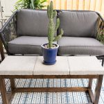 DIY Concrete Paver Outdoor Coffee Table
