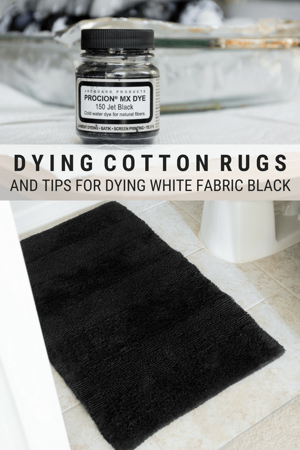 How to dye a rug black using procion dye // Jacquard Procion Dye Power in Jet Black #diy #fabricdye