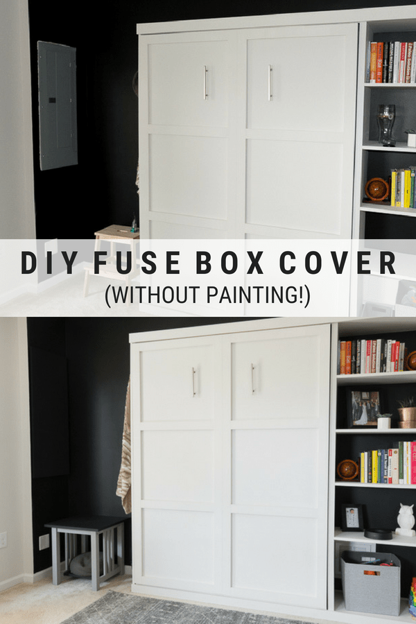 Learn how to make a DIY fuse box cover // Disguise a fuse box cover #diy