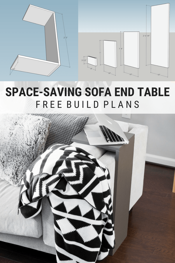DIY space-saving sofa end table build plans #diy #buildplans