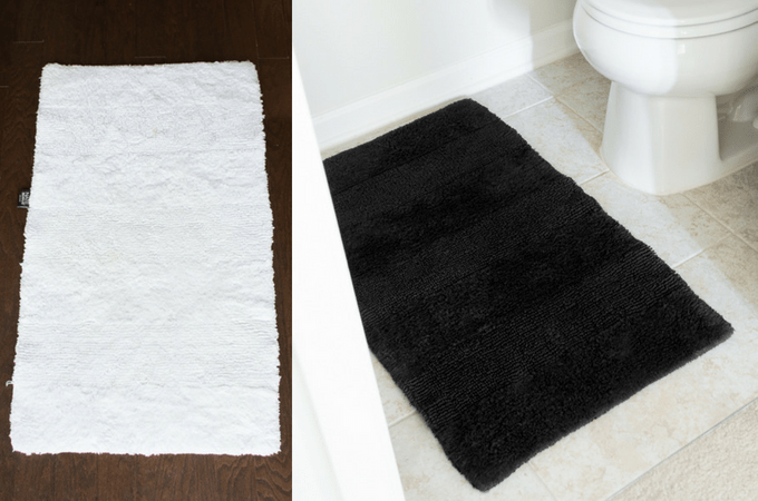 Lower-Level Powder Room: How to Dye a Rug