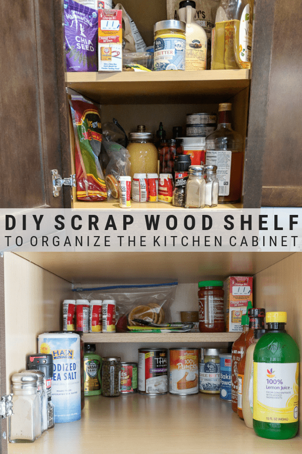 DIY Cabinet Shelf From Scrap Wood