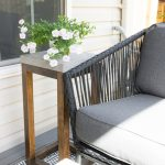Concrete Outdoor Side Table Made From Pavers