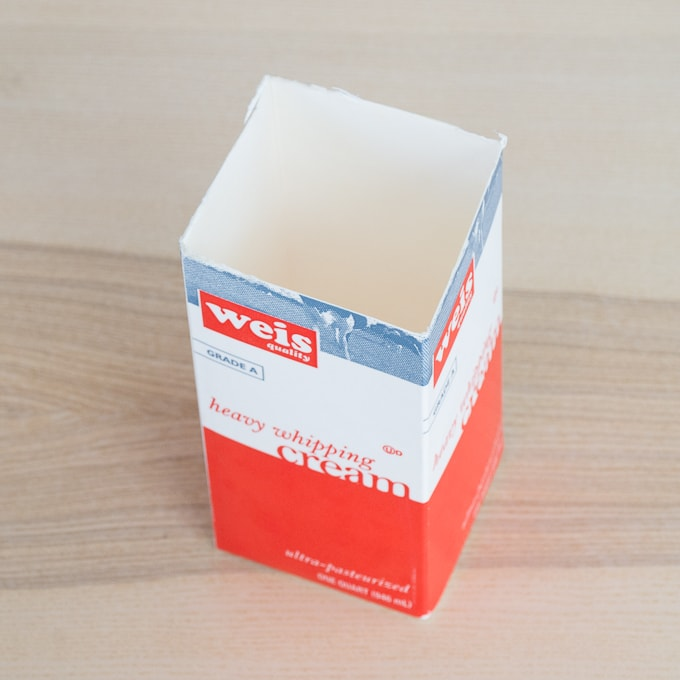 old cream carton