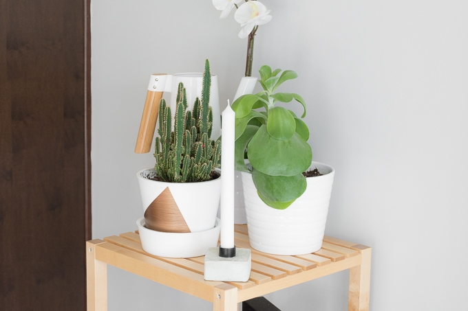 DIY concrete candlestick holders