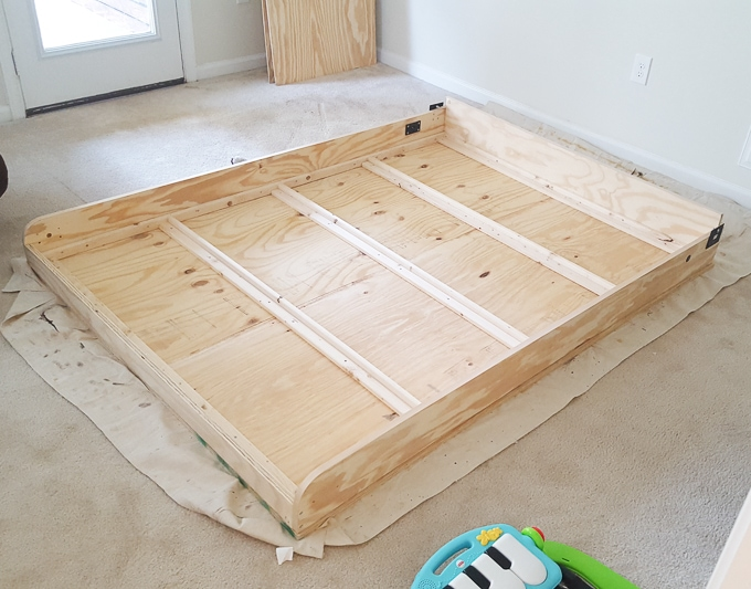 Bed base inside