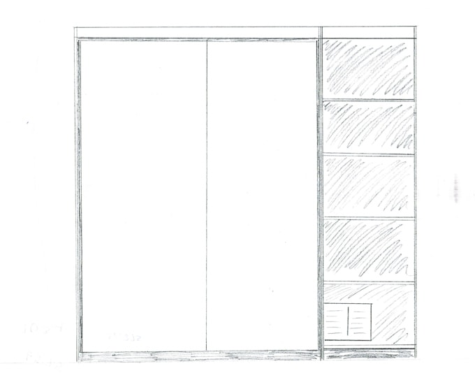 sketch for the DIY murphy bed