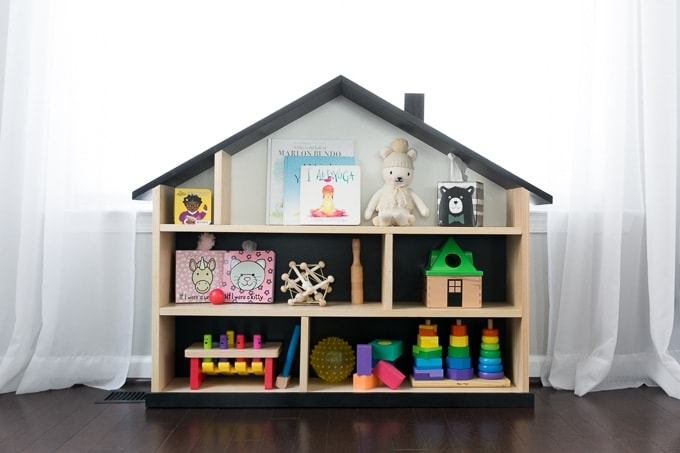 Diy Modern Dollhouse Bookcase Free Build Plans