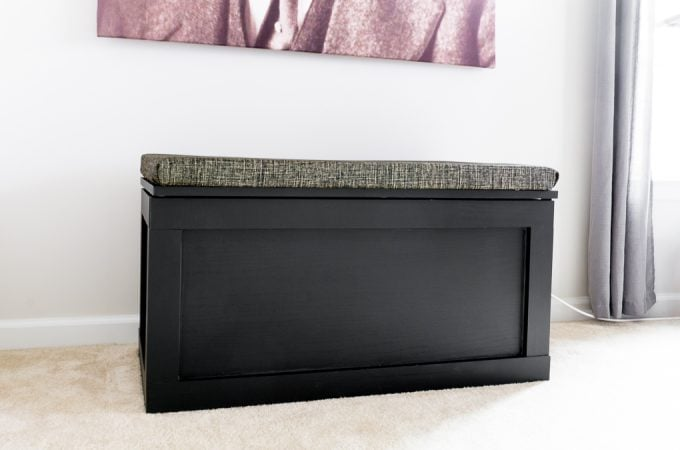 DIY modern toy box plans