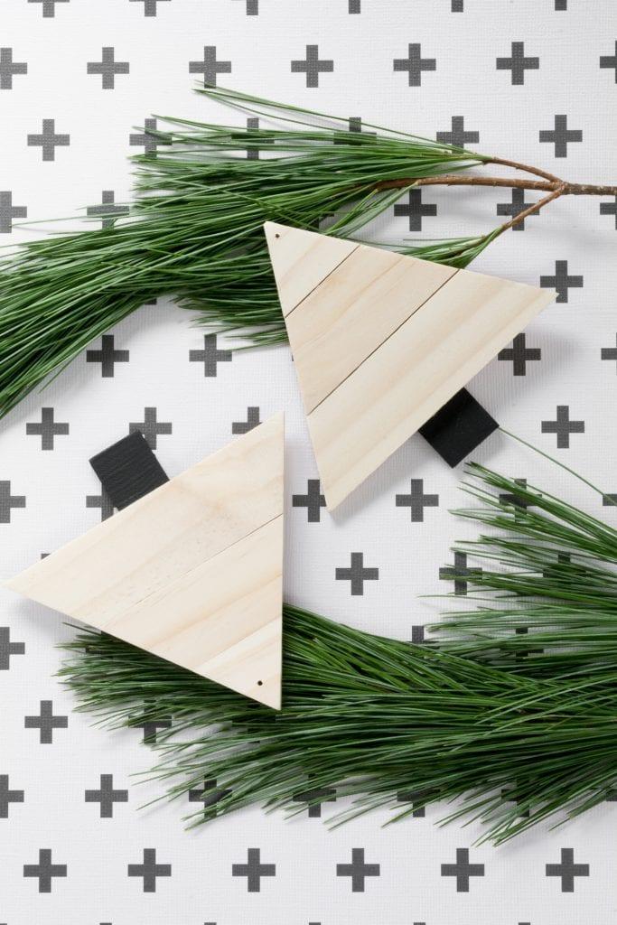 DIY Paint Stirrer Christmas Tree Ornaments