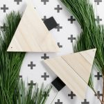 DIY Paint Stirrer Christmas Tree Ornaments