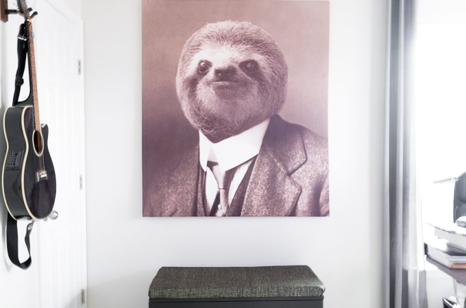 Large DIY Sloth Art