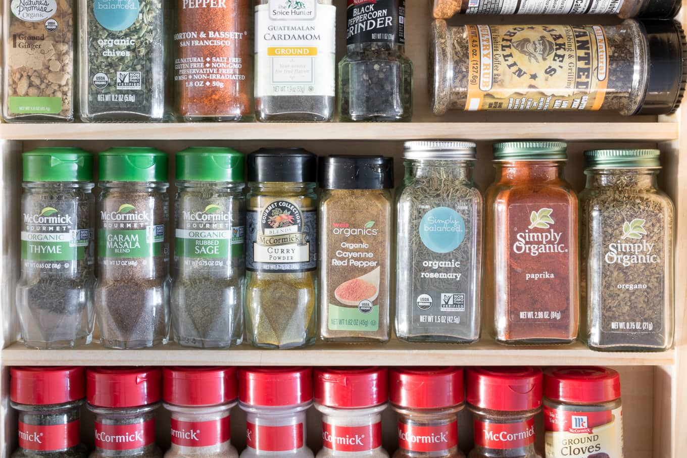 how to make a spice rack for drawer