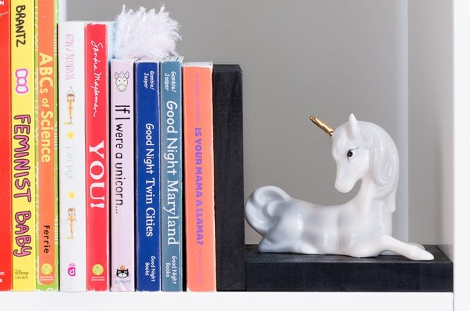 DIY Unicorn Bookends for a Nursery