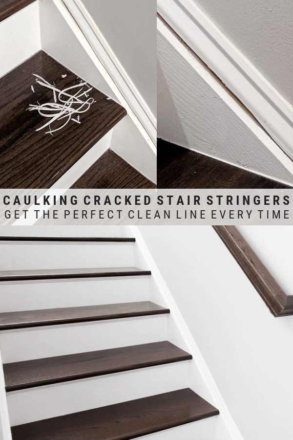 how to re-caulk cracked stair stringer seams