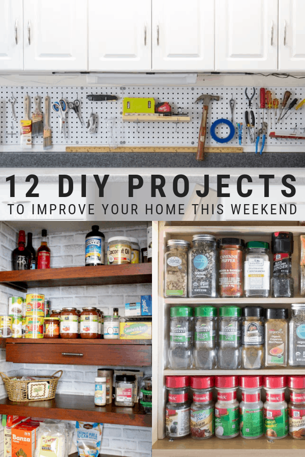 Weekend DIY projects for the home and home organization and improvement projects for beginners.