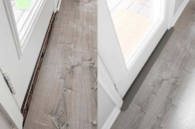 Installing a Door Threshold for Vinyl Flooring